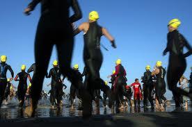 Triathleten on the run